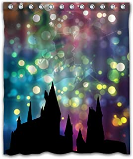 Delean Custom Hogwarts School of Witchcraft and Wizardry Fabric Water-Proof Shower Curtain Printed for Bathroom Decoration 60x72 Inches