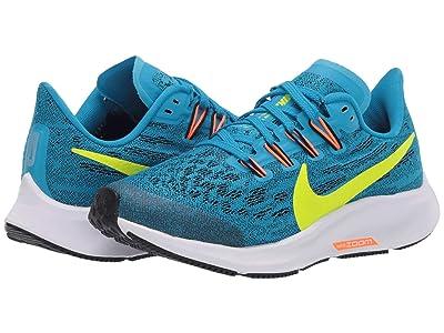 Nike Kids Air Zoom Pegasus 36 (Little Kid/Big Kid) (Laser Blue/Lemon Venom/Black) Kids Shoes