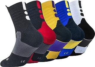 Elite Basketball Socks, Cushioned Dri-Fit Athletic Crew Socks - Thick Sports Socks For Men & Women