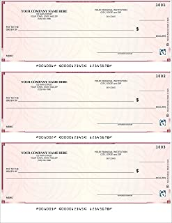 CheckSimple Laser Business Checks, 3/Page, High Security - Compatible with QuickBooks, Quicken (500 Qty) - Custom