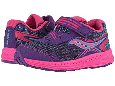 Saucony Kids Ride 10 Jr (Toddler/Little Kid) (Purple) Girls Shoes