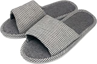 AioTio Pantoufle Confortable antidérapante en Lin et Coton décontracté pour Femmes et Hommes