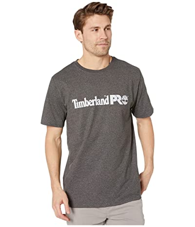 Timberland PRO Base Plate Short Sleeve T-Shirt with Logo (Dark Charcoal Heather) Men