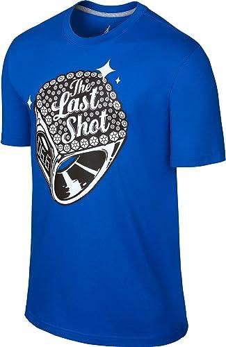 Jordan The Last Shot 619947-432 T-Shirt Homme Bleu gris Loup
