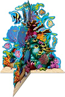 Beistle 57323 3D Coral Reef Centerpiece, 10-Inch (Value 3-Pack)