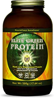 HealthForce SuperFoods Elite Green Protein - 500 Grams - Plant-Based Protein Powder - Promotes Performance & Endurance - V...