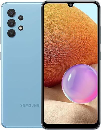 هاتف سامسونج جالكسي ايه 32 ثنائي شرائح الاتصال - ذاكرة 128 جيجا وذاكرة رام 6 جيجا (نسخة الامارات العربية المتحدة)، ازرق