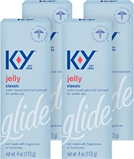 K-Y Jelly Personal Water Based Lubricant, 4 oz (Pack of 4)4