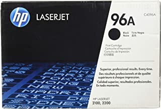 HP 96A (C4096A) Black Original LaserJet Toner Cartridge DISCONTINUED BY MANUFACTURER (Renewed)