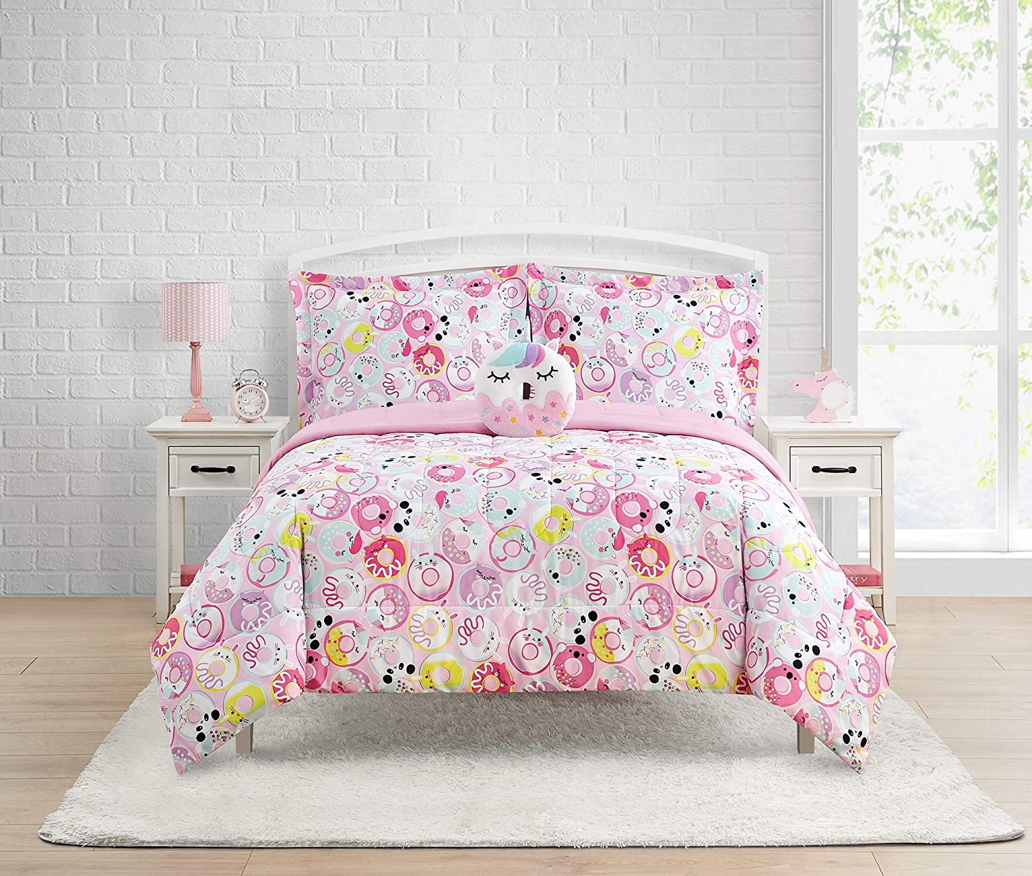 Home Resort Donut 67% OFF of fixed price Critters 4-Piece Comforter Fe Reversible Set Be super welcome