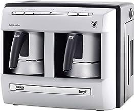 Beko BKK 2113 Mokka-koffiezetapparaat, 1 liter, zilver/zwart