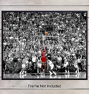 Michael Jordan Photo - Basketball Wall Art, Home Decor - Unique Poster, Print Room Decorations for Bedroom, Gym, Game Room, Bar - Gift for Men, Boys, LA Lakers, Chicago Bulls, NBA Fans, 8x10 Unframed