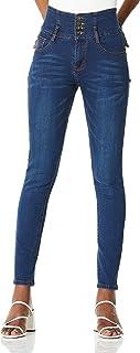 Demon&Hunter 812 Series Mujer Pantalones Vaqueros Skinny Elevar Curva