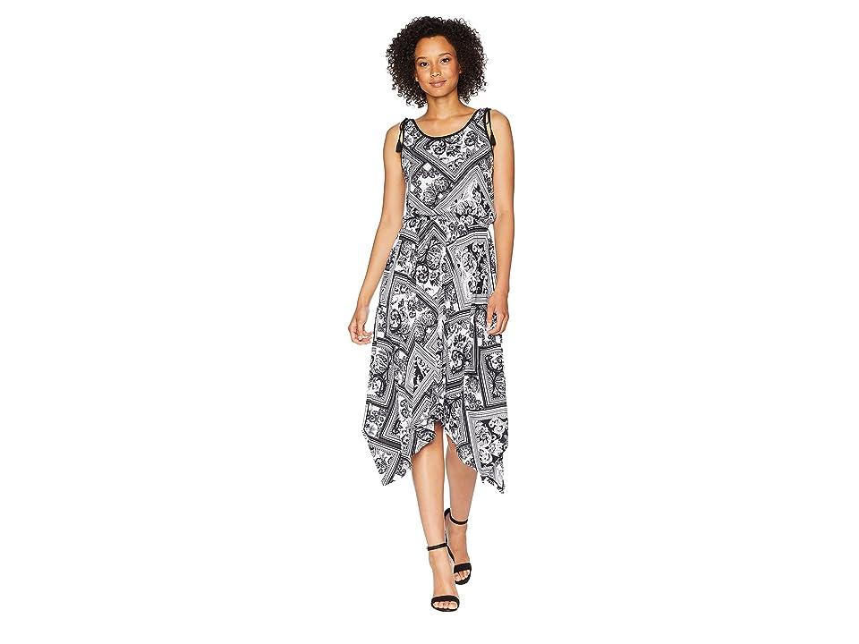 LAUREN Ralph Lauren Pure Cotton Jersey Maxi Dress (Soft White/Polo Black) Women