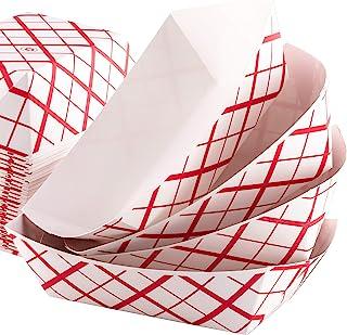 سینی مواد غذایی محکم و گریس-اثبات 1 پیمانه 100 بسته توسط Eucatus. میان وعده های گرم یا سرد را در این سبد های کاغذی با طرح کارناوال سبک کلاسیک سرو کنید. ایده آل برای ایستادن کنفکسیون یا کرایه پارتی سیرک!