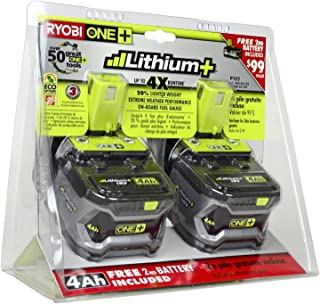 Ryobi 18-Volt ONE+ Lithium-Ion 4.0 Ah High Capacity Battery (2-Pack) P145