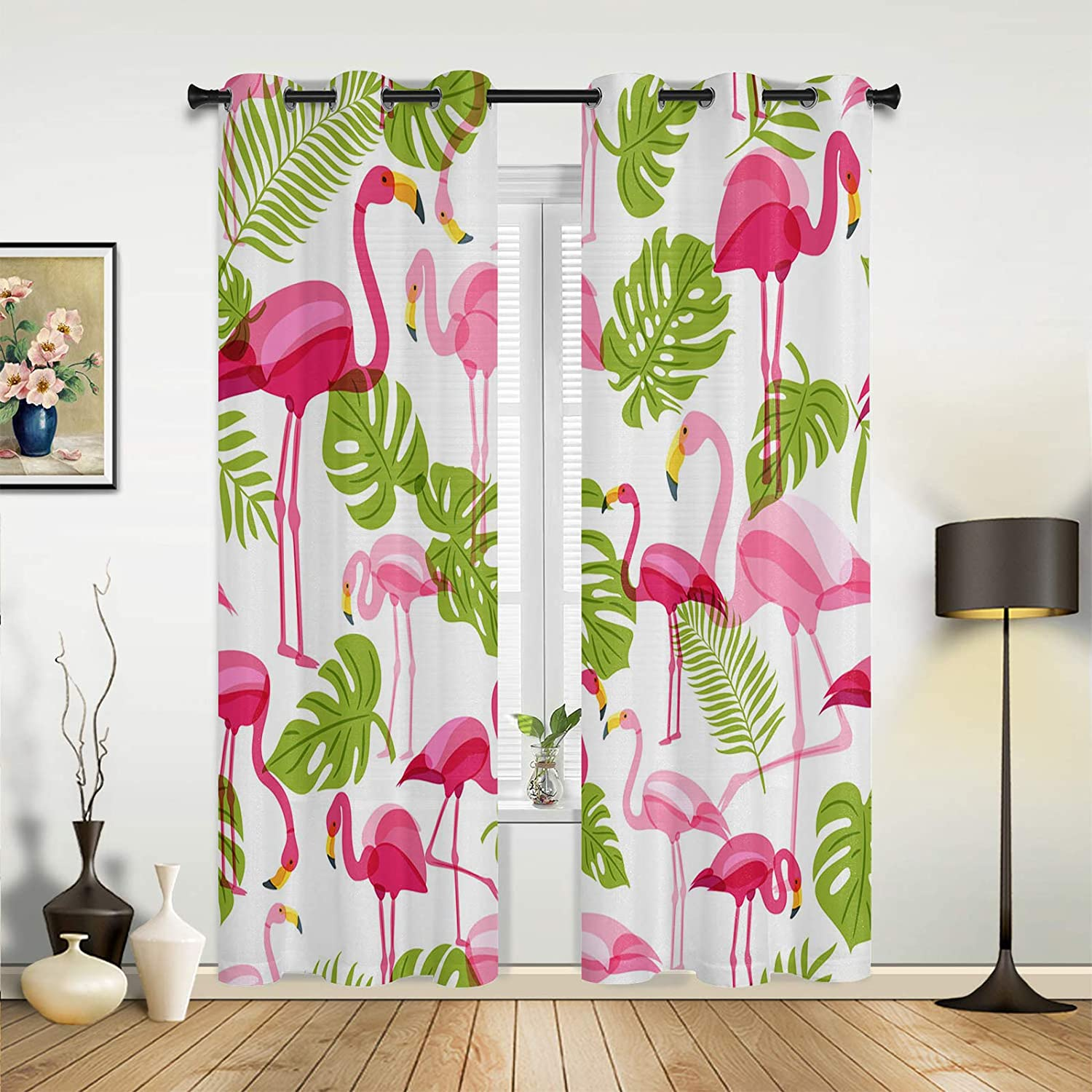 Beauty Decor Window mart Sheer Curtains Fresno Mall Summe for Bedroom Living Room