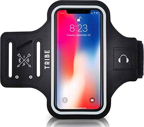 TRIBE Water Resistant Cell Phone Armband Case Running Holder for iPhone Pro Max Plus Mini SE (12/11/X/XS/XR/8/7/6/5) ...