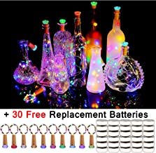 KZOBYD Wine Bottle Lights with Cork 10 Pack Fairy Battery Operated Mini Lights Diamond Shaped LED Cork Lights for Wine Bottles DIY Party Decor Christmas Halloween Wedding Festival(Multicolor)