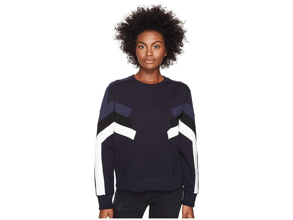 Neil Barrett Modernist Retro Sweatshirt I (Black/Blue) Women