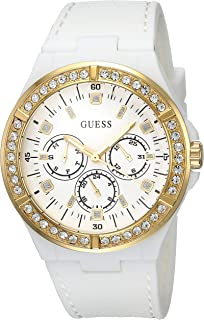 Guess Womens Quartz Watch, Analog Display and Silicone Strap W1093L1