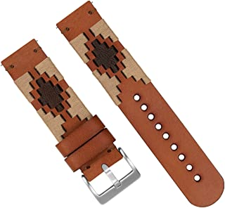 Barton Gaucho Leather Quick Release Watch Band Straps - Choose Color & Width - 18mm, 20mm, 22mm
