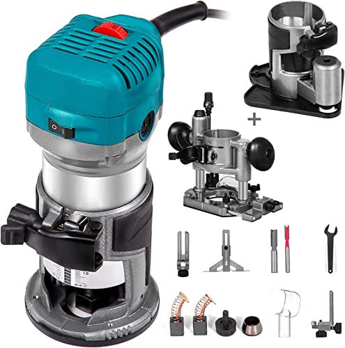 2021 Mophorn 1.25HP Compact Router Kit Max Torque lowest 30,000RPM 2021 Variable Speed Router With Fixed Base, Plunge Base and Offset Base For Woodworking & Furniture Manufacturing online