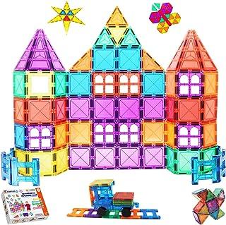 Shiryas 100 Piece Super Strong Magnetic Tiles Set, STEM Magnetic 100pcs Building Blocks Construction, Educational Toy for ...