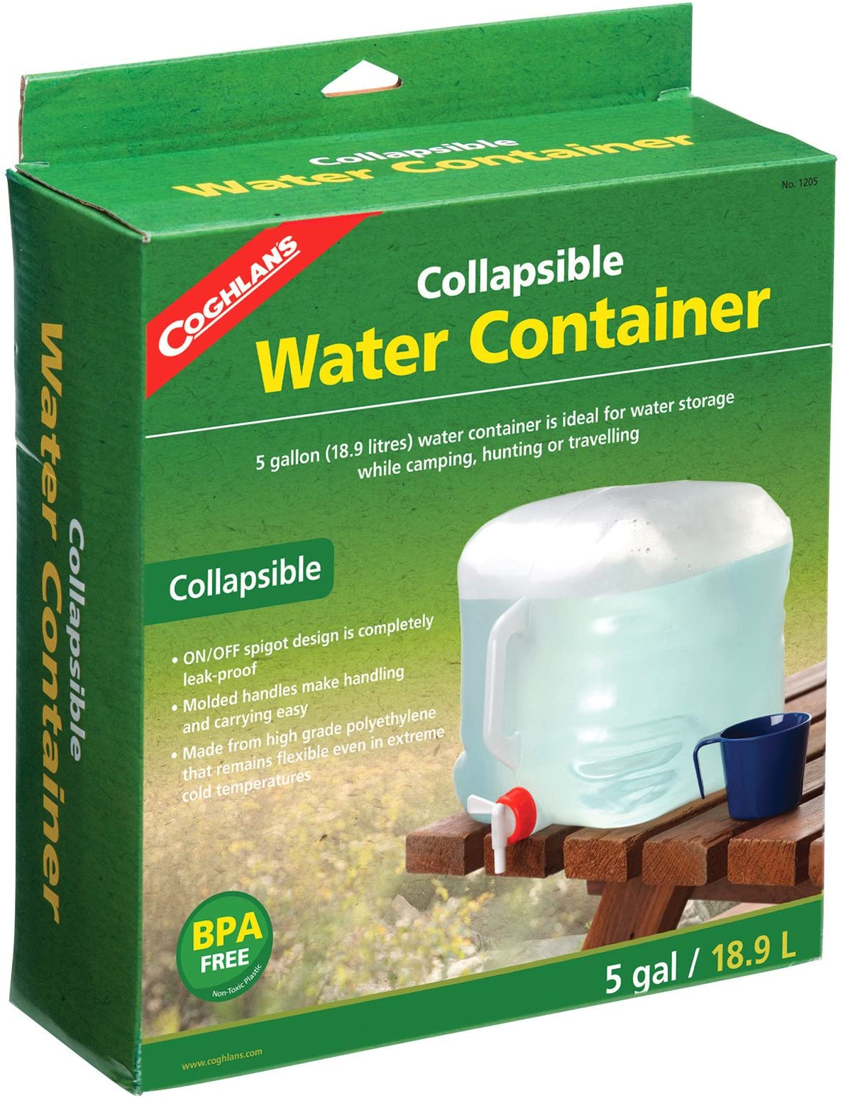 """RELIANCE Fold-A-Carrier 5 Gallons Natural 12.0/""""x4.0/""""x16.0/"""""""