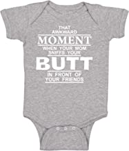 BeeGeeTees Funny Baby Your Mom Sniffs Your Butt One Piece Infant Romper