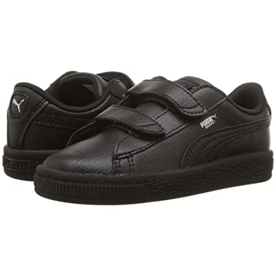 Puma Kids Basket Classic LFS V Inf (Toddler) (Puma Black/Puma Black) Kids Shoes