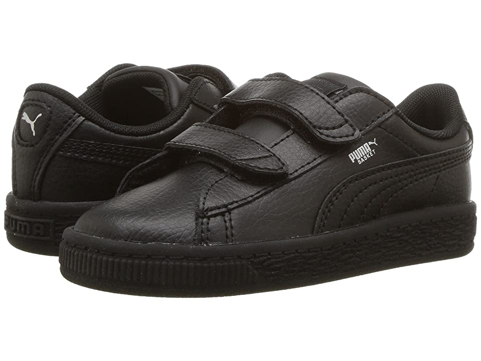 Puma Kids Basket Classic LFS V Inf (Toddler) (Puma Black/Puma Black) Kids Shoes