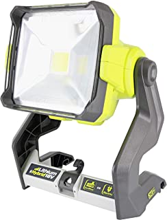 Ryobi P721 One+ 1,800 Lumen 18V Hybrid AC and Lithium Ion Powered Flat Standing LED Work Light. Onboard Mounting Options (Battery and Extension Cord Not Included, Light Only) (Renewed)