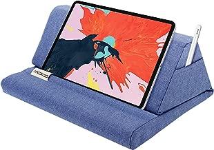 "MoKo Tablet Pillow Stand, Soft Bed Pillow Holder Fits up to 11"" Pad, Fit with iPad 10.2"" 2019, New iPad Air 3, Mini 5, Ipad Pro11 2018/10.5/9.7, Air Mini 1 2 3 4, Samsung Galaxy Tab, Denim Blue"