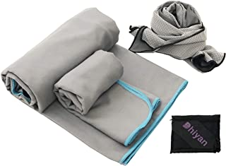 featured product Microfiber Towel Set of 3 Camping Towel Sports Towel (Big Towel Size 63 X 31 and Hand Towel Size 15 x 31 Plus 1 Free Cooling Towel) - Best for Camping, Gym, Travel - Lightweight and Quick Dry