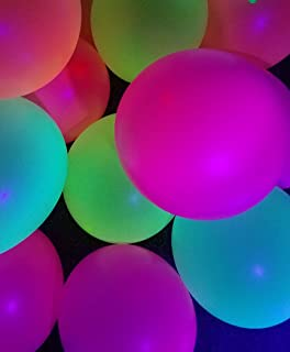 Glow in The Dark Balloons for Blacklight UV Party - Bright Color Pack of 25