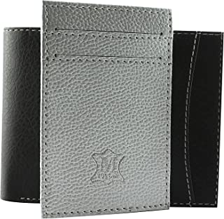 Mtuggar Soft & Flexible Black Card Coin Pocket Bifold Men's Wallet With Silver Removable Insert For Added Storage_1625-BlackSilver