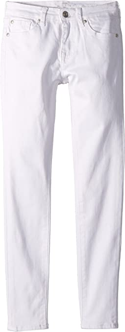 7 For All Mankind Kids The Skinny Jeans in Clean White (Big Kids)