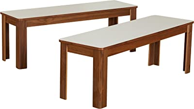 PFB-CAP-W Parfait Dining Bench with Wood Seat in Cappuccino Finish.