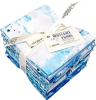 Winters Pearl Fat Quarter Bundle 16 Precut Cotton Fabric Quilting FQs Assortment Benartex