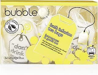 Bubble T Bath Infusion Tea Bags, Lemongrass & Green, 5.82 Ounce
