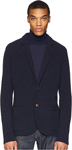 Two-Button Sweater Jacket
