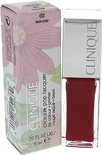 Clinique Pop Lacquer Lip Color + Primer, No. 02 Lava Pop, 0.2 Ounce
