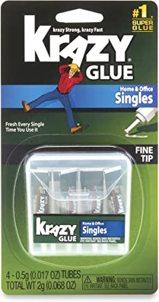 Krazy Glue KG82048SN Home & Office Super Glue, Single-Use Tubes, Fine Tip