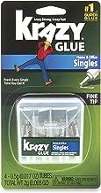 Krazy Glue KG82048SN Home & Office Super Glue, Single-Use Tubes, Fine Tip, 0.5 Grams, 4 Count, 0.017 oz. Premium Pack