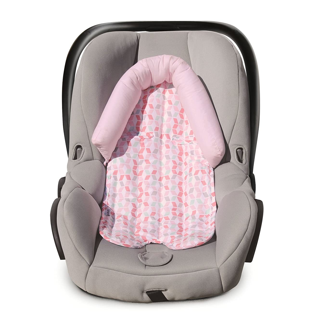 Carter's Infant Head Support for Carseats, Stollers and Swings, Lattice, Pink/White