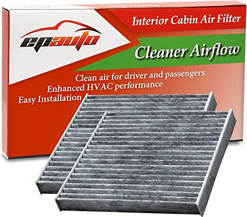 2 Pack - EPAuto CP285 (CF10285) Premium Cabin Air Filter includes Activated Carbon
