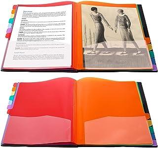 UBAYMAX Trieur A4, Trieur Document 12 Compartiments Colorés avec Indexation Numérique en Plastique