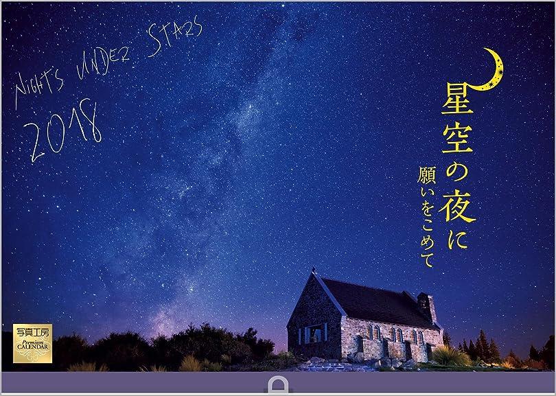 ムス混乱前売星空の夜に 2018年 カレンダー 壁掛け E-1 (使用サイズ 594×420mm)