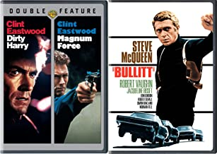 Bullitt & Dirty Harry + Magnum Force DVD Action Pack 3 Movie Set Clint Eastwood & Steve McQueen